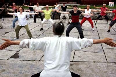 un cours collectif de Qi Gong